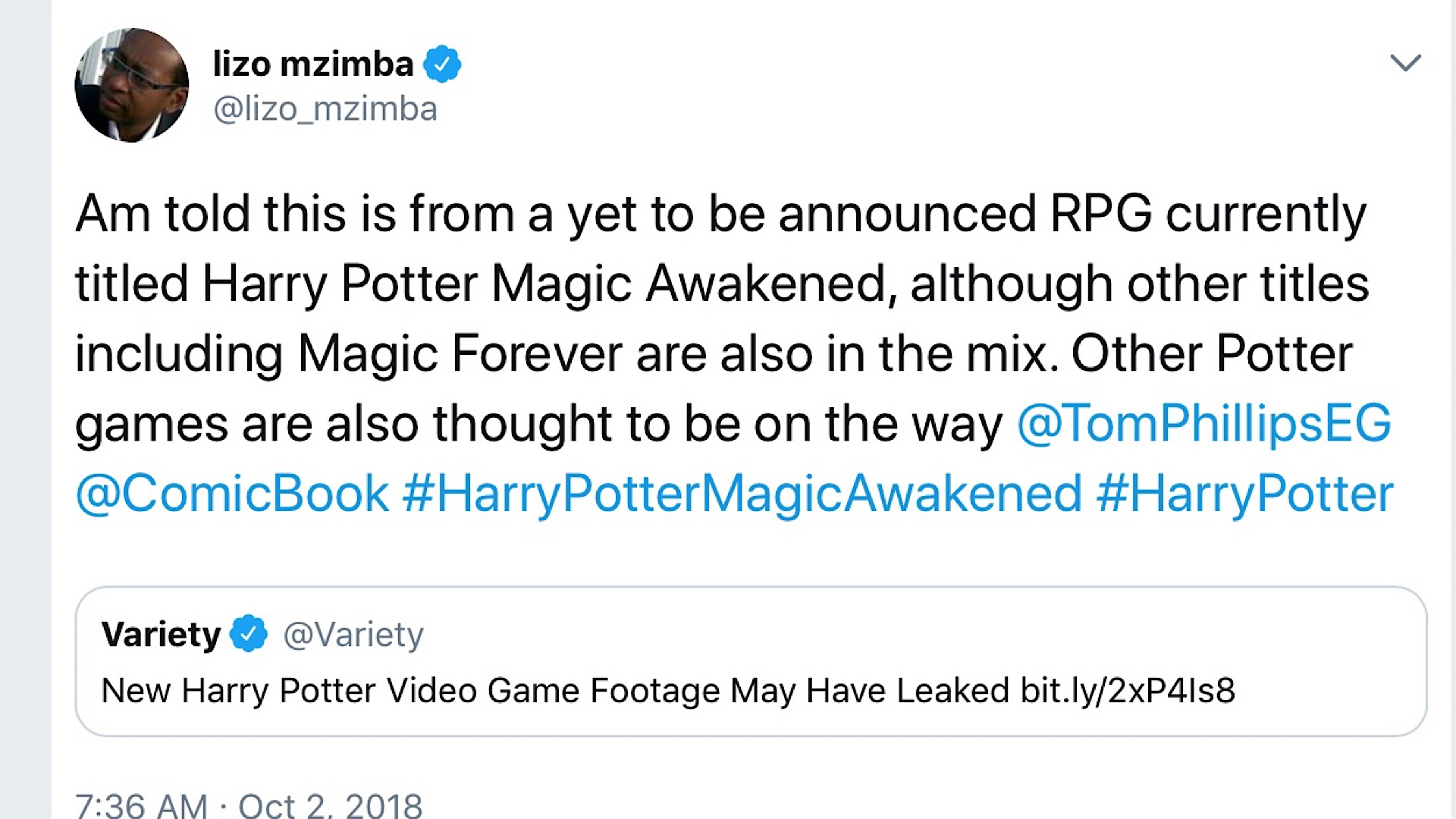 Possible Leak for a Harry Potter RPG