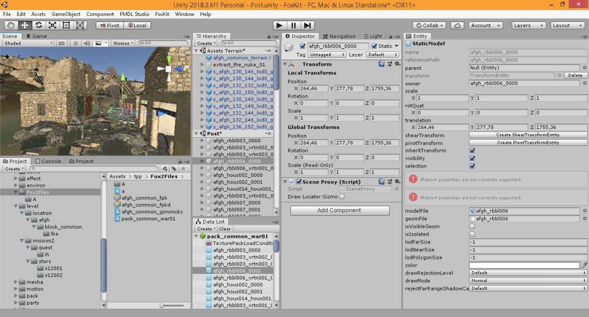 Level Editor Unity interface